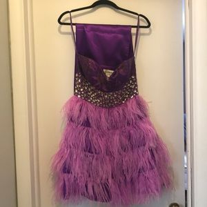 Jovani Mini Purple Cocktail Dress